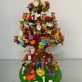 Presépio na Árvore c/ Castiçais com  (50 cm)
